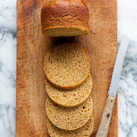 Quebec brown bread sliced