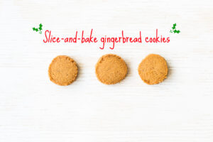 slice-and-bake gingerbread cookies similar to speculoos cookies