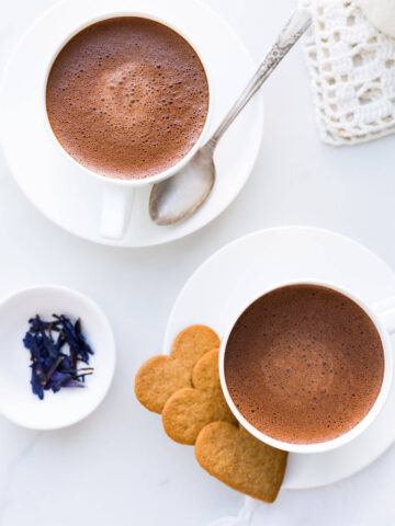 Homemade hot chocolate recipe made with real chocolate