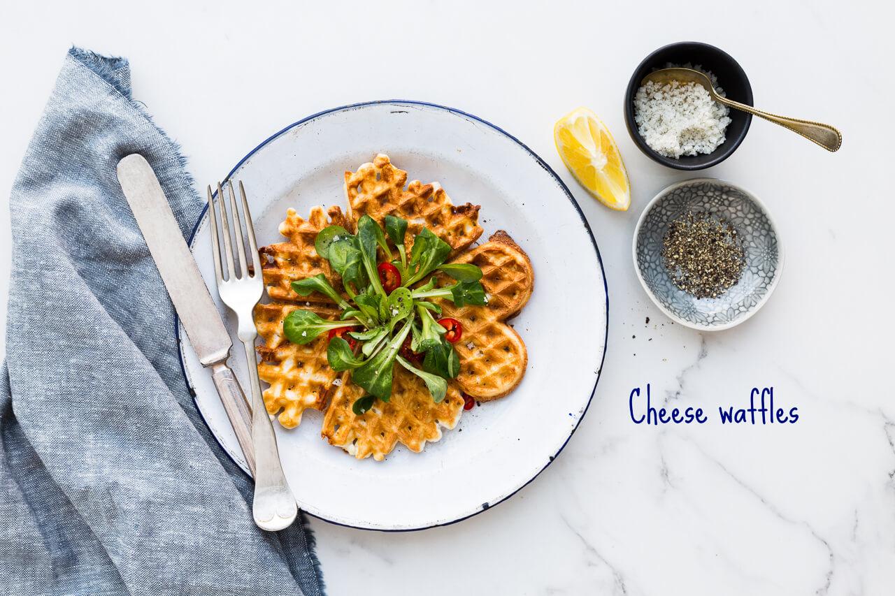 Savory cheese waffles