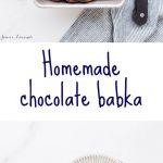 Homemade chocolate babka bread made with swirls of dark chocolate and a little cinnamon