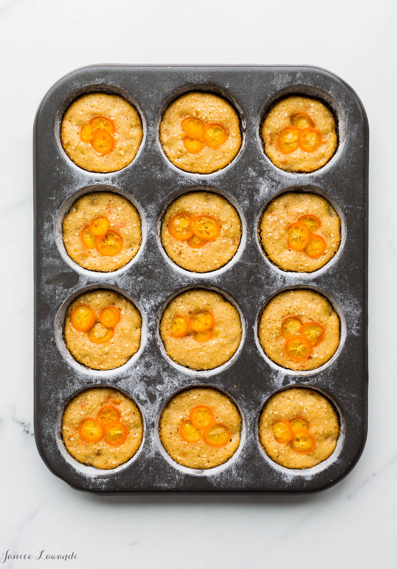 Sesame kumquat financiers
