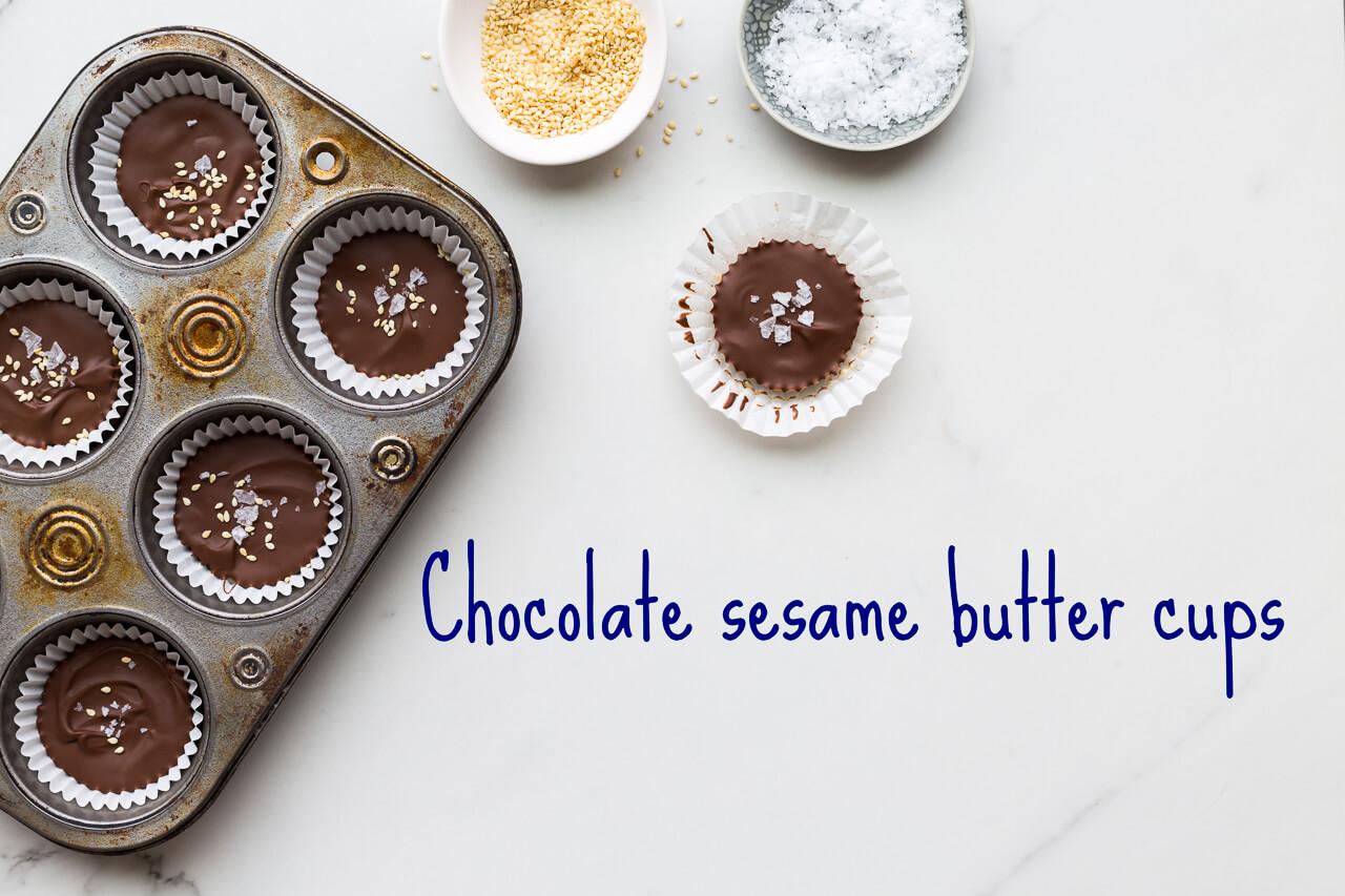 Sesame butter cups-Homemade chocolate tahini cups, just like peanut butter cups but with sesame