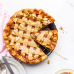 Rhubarb lattice pie with how-to video