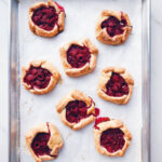 Easy raspberry galettes