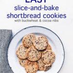 Cocoa nib buckwheat shortbread cookies
