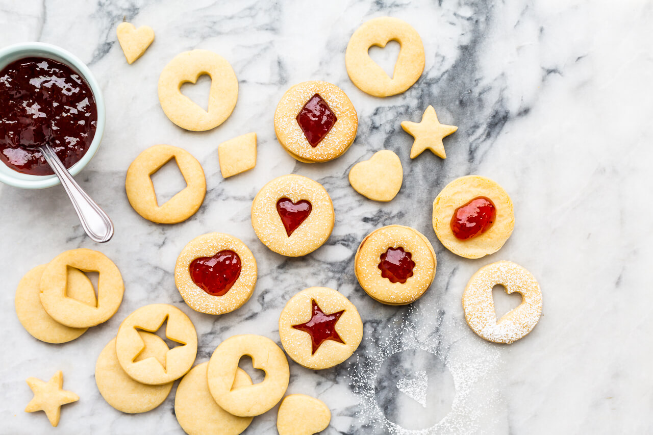 Jam Filled Shortbread Cookies Kitchen Heals Soulkitchen Heals Soul