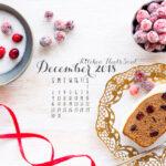 December 2018 desktop calendar