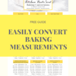 CHEAT SHEET baking ingredient conversions chart printablr