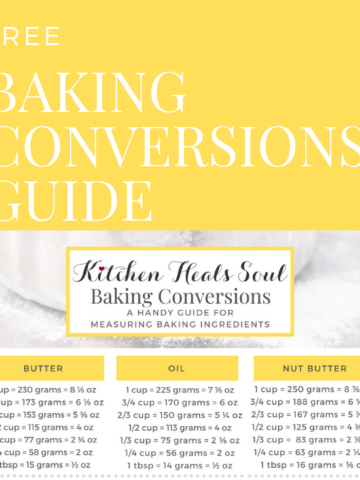 FREE BAKING CONVERSIONS GUIDE chart