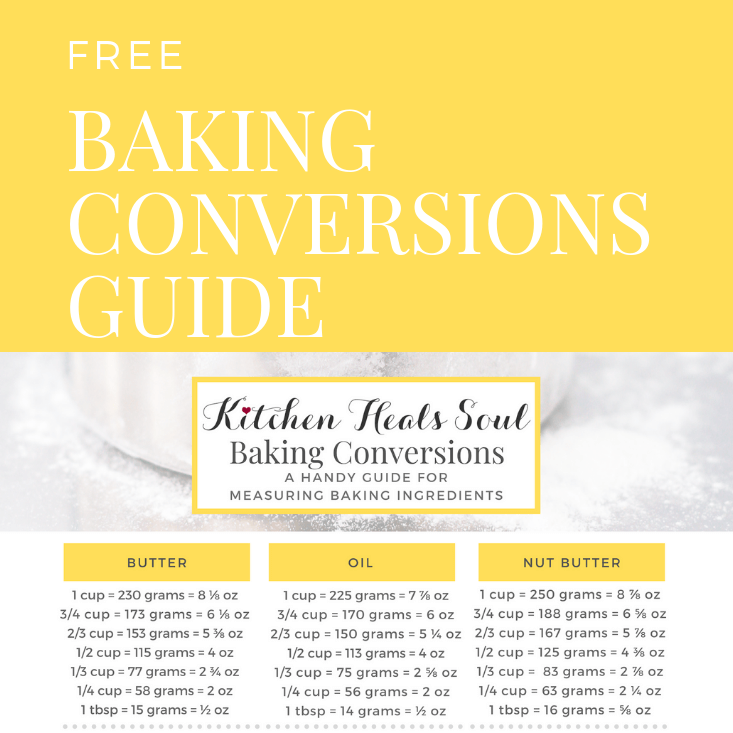 sign up to the mailing list to get your free baking chart