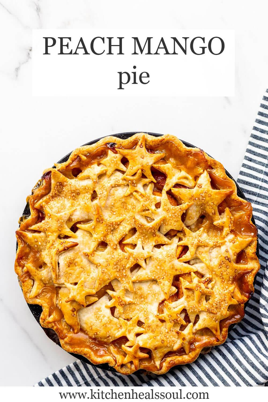 Peach mango pie with star crust