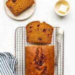 The best pumpkin bread with cranberries